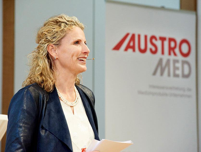 Moderatorin Austromed © Sabine Klimpt
