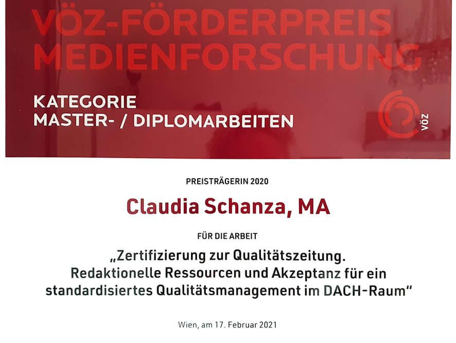 VÖZ-Preis für Medienforschung